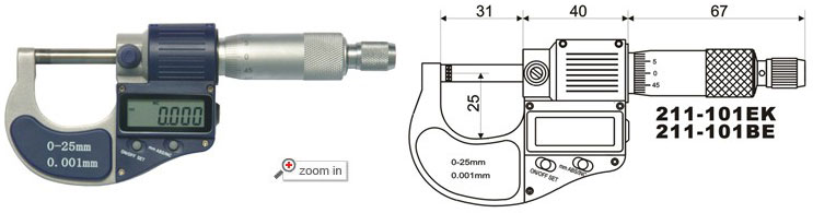Outside Digital Micrometers (Type A)